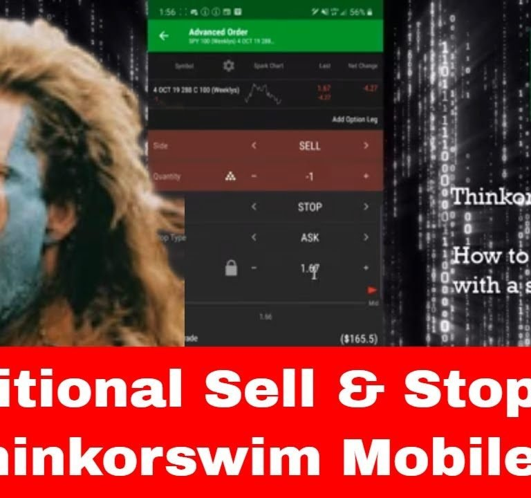 How To Create Conditional Orders with a Sell and Stop Loss in ThinkorSwim Mobile